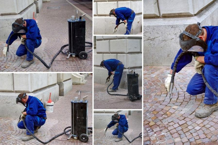 pulizia arredo urbano